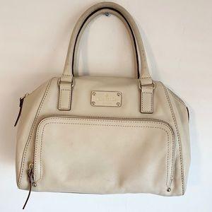 ✨KATE SPADE Vintage Unique Cream-Colored Hand Bag